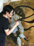 周海波藏宝-壁画《风神与雷神》大功告成!从初稿到成品作历尽两月!准备安装【图3】