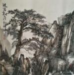 张祖坤日志-国画山水画《迎客松》,《沟壑风烟》,《岁月》,尺寸四尺斗方6【图1】