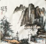 张祖坤日志-国画山水画《迎客松》,《沟壑风烟》,《岁月》,尺寸四尺斗方6【图3】
