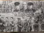 崔宁日志-很多人要看我们的《抗日英雄》百米画卷,但是还没画完,正在日夜【图3】