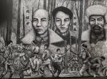 崔宁日志-很多人要看我们的《抗日英雄》百米画卷,但是还没画完,正在日夜【图5】