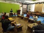 王征明生活-于广州《茅庐》笔会,品茶分享水意画绘画心得【图1】