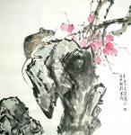 石梦松日志-石梦松原创国画十二生肖图《子鼠》,《丑牛》,《寅虎》,《卯兔【图1】