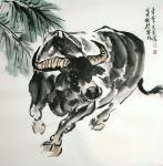 石梦松日志-石梦松原创国画十二生肖图《子鼠》,《丑牛》,《寅虎》,《卯兔【图2】