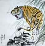 石梦松日志-石梦松原创国画十二生肖图《子鼠》,《丑牛》,《寅虎》,《卯兔【图3】