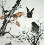石梦松日志-石梦松原创国画十二生肖图《子鼠》,《丑牛》,《寅虎》,《卯兔【图4】