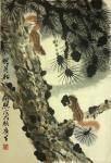 石广生日志-国画花鸟画《明月松间照》,这是昨晚半夜瞎折腾,为同乡会年历画【图3】