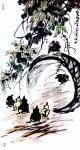 """龚光万日志-国画花鸟画《扁豆花香》,画面诗意:""""一庭春雨瓢儿菜,满架秋风【图1】"""