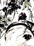 """龚光万日志-国画花鸟画《扁豆花香》,画面诗意:""""一庭春雨瓢儿菜,满架秋风【图2】"""