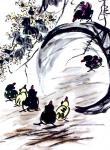 """龚光万日志-国画花鸟画《扁豆花香》,画面诗意:""""一庭春雨瓢儿菜,满架秋风【图3】"""