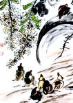 """龚光万日志-国画花鸟画《扁豆花香》,画面诗意:""""一庭春雨瓢儿菜,满架秋风【图5】"""