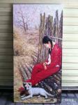 凌振宁日志-油画人物画乡村少女题材系列作品四幅,乡村的气息,恬静朴实,与【图1】