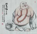 尚建国日志-国画人物画《坐观云起》,尺寸六尺98x180cm;人物画《【图3】