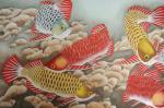 韩梅日志-国画工笔画鱼系列作品《金龙鱼》,尺寸小六尺68x180cm,【图2】