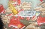 韩梅日志-国画工笔画鱼系列作品《金龙鱼》,尺寸小六尺68x180cm,【图3】