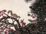 石广生日志-国画花鸟画作品《松梅图》附五言诗一首;   阿松兄和梅姐近【图1】