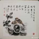 陈忠良日志-国画花鸟画麻雀系列作品《舔犊之爱》,成语涂解系列之十三《舐犊【图2】