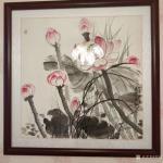 郑诚藏宝-我的结缘国画作品,客户装裱上墙以后返图,有山水画花鸟画,其中【图2】