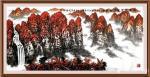 叶向阳日志-翰墨颂中华:《鸿运当头银瀑欢歌》,国画山水画作品欣赏。新春将【图1】