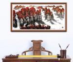 叶向阳日志-翰墨颂中华:《鸿运当头银瀑欢歌》,国画山水画作品欣赏。新春将【图2】