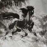 刘建国日志-乙亥新春,马踏祥云,新的一年国画骏马新作品欣赏«志在千里»«【图2】