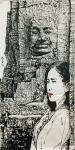 马培童日志-新年新作吴哥石窟焦墨画系列作品欣赏,今年春节前后二个多月每天【图1】