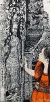 马培童日志-新年新作吴哥石窟焦墨画系列作品欣赏,今年春节前后二个多月每天【图3】