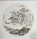 刘协文日志-根据唐诗诗意原创的国画作品分享,尺寸33X33厘米,材质硬卡【图1】