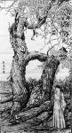 马培童日志-行万里路之六,胡扬~三千年的守候。去年到了内蒙胡扬林景区写生【图2】