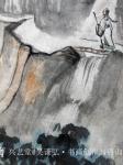 吴谦弘日志-《雨后访友图-吴谦弘山水画2015》,画芯,设色宣纸,约高7【图3】