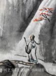 吴谦弘日志-《雨后访友图-吴谦弘山水画2015》,画芯,设色宣纸,约高7【图4】