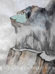 吴谦弘日志-《雨后访友图-吴谦弘山水画2015》,画芯,设色宣纸,约高7【图5】