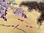 叶仲桥生活-早上画了这张赏心悦目的国画写意花鸟《春晖图》,下午到云浮市艺【图1】