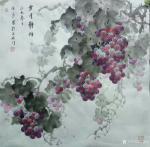 卢俊良日志-四尺斗方国画葡萄新作品一组,《岁月静好》《秋实》《秋趣》《硕【图2】