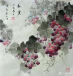 卢俊良日志-四尺斗方国画葡萄新作品一组,《岁月静好》《秋实》《秋趣》《硕【图3】