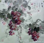 卢俊良日志-四尺斗方国画葡萄新作品一组,《岁月静好》《秋实》《秋趣》《硕【图4】