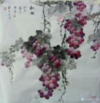 卢俊良日志-四尺斗方国画葡萄新作品一组,《岁月静好》《秋实》《秋趣》《硕【图5】