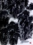 """龚光万日志-国画水墨山水画作品""""雨里鸡鸣一两家,竹溪村路板桥斜。 妇姑【图2】"""