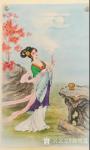 徐景莲日志-新创作的工笔画中国古代四大美女图四条屏《羞花(贵妃醉酒)》、【图3】