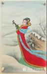 徐景莲日志-新创作的工笔画中国古代四大美女图四条屏《羞花(贵妃醉酒)》、【图4】