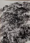 阎敏日志-水墨画作品《墨韵•太行——车佛沟印象》,尺寸四尺竖幅68×1【图1】