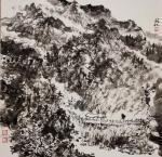 阎敏日志-水墨画作品《墨韵•太行——车佛沟印象》,尺寸四尺竖幅68×1【图3】