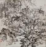 阎敏日志-水墨画作品《墨韵•太行——车佛沟印象》,尺寸四尺竖幅68×1【图4】