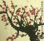 石广生日志-一幅电吹风吹出来的画《风筒吹得梅花开》,附装裱效果图,请欣赏【图3】