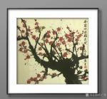石广生日志-一幅电吹风吹出来的画《风筒吹得梅花开》,附装裱效果图,请欣赏【图4】