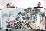 甘庆琼日志-国画花鸟画作品《富贵长春,基业永固》尺寸八尺240x138c【图3】