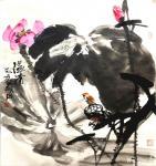 甘庆琼日志-国画花鸟画作品《富贵长春,基业永固》尺寸八尺240x138c【图4】