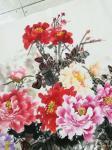 """卢士杰日志-创作一副六尺作品""""花开富贵"""",从八点准备,九点,十点,十一点【图2】"""