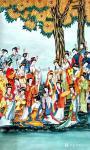 肖业炎日志-国画人物画作品《中国历代仕女百图》,10米长卷,肖业炎创作于【图3】
