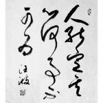 """汪波日志-近期草书书法:""""古之善书者多寿 心定故也,人能定其心 ,何事【图1】"""